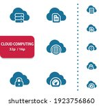 cloud computing icons.... | Shutterstock .eps vector #1923756860
