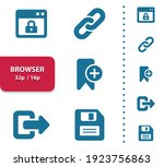 browser icons. professional ... | Shutterstock .eps vector #1923756863