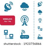 wireless icons. professional ... | Shutterstock .eps vector #1923756866