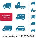 vehicles icons. professional ... | Shutterstock .eps vector #1923756869
