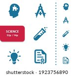 science icons. professional ... | Shutterstock .eps vector #1923756890