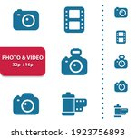photo  video icons.... | Shutterstock .eps vector #1923756893