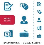 office  job  workplace icons.... | Shutterstock .eps vector #1923756896
