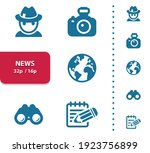 news  media icons. professional ... | Shutterstock .eps vector #1923756899