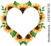 Watercolor Sunflower Heart...