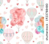 cute vector pattern with air... | Shutterstock .eps vector #1923788480