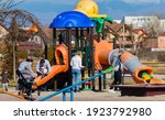 Playground with children and...