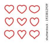 hearts vector icon collection.... | Shutterstock .eps vector #1923812939