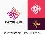 elegant beauty flower logo... | Shutterstock .eps vector #1923817460