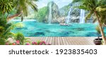 stream running through the... | Shutterstock . vector #1923835403