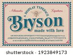 a vintage serif typeface with a ...   Shutterstock .eps vector #1923849173