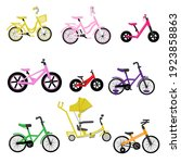 Set Of Kids Bikes. Bicycles For ...