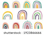 collection of abstract boho... | Shutterstock .eps vector #1923866666