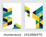 abstract modern geometric flyer ... | Shutterstock .eps vector #1923886970