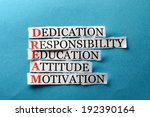 dream acronym concept   words... | Shutterstock . vector #192390164