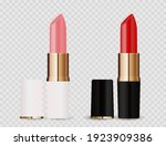 realistic 3d light pink and red ... | Shutterstock .eps vector #1923909386