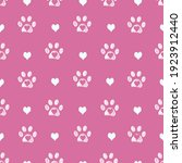 White Doodle Paw Prints With...