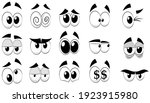 set of cartoon eyes  isolated... | Shutterstock .eps vector #1923915980