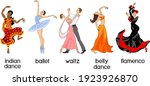 various style dancing. set with ...   Shutterstock .eps vector #1923926870