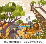 animals. vector flat...   Shutterstock .eps vector #1923947510