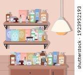 shelf and furniture full of...   Shutterstock .eps vector #1923952193