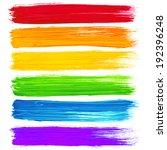 vector rainbow watercolor brush ... | Shutterstock .eps vector #192396248