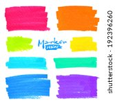 colorful vector marker stains... | Shutterstock .eps vector #192396260