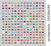 224 flags of the world | Shutterstock .eps vector #192396299
