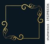 golden swirl frame on dark... | Shutterstock .eps vector #1923983336