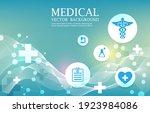 modern icon medical wallpaper...   Shutterstock .eps vector #1923984086