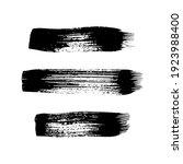 black grunge brush strokes. set ... | Shutterstock .eps vector #1923988400
