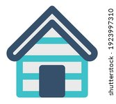 icon lodge using flat style and ...   Shutterstock .eps vector #1923997310