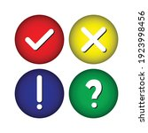collection round buttons with... | Shutterstock .eps vector #1923998456