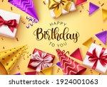happy birthday text vector... | Shutterstock .eps vector #1924001063
