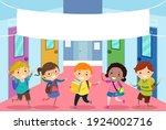 illustration of stickman kids... | Shutterstock .eps vector #1924002716