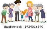 member of family cartoon...   Shutterstock .eps vector #1924016540