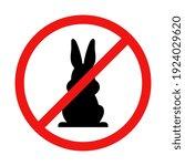 vector no easter bunny sign | Shutterstock .eps vector #1924029620