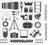vector set  photography and...   Shutterstock .eps vector #192403514