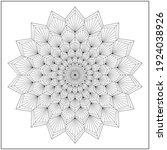 mandala circle pattern....   Shutterstock .eps vector #1924038926