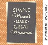 typographic poster   simple... | Shutterstock .eps vector #192404060