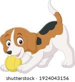 cartoon funny little dog... | Shutterstock .eps vector #1924043156
