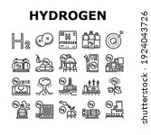 hydrogen industry collection... | Shutterstock .eps vector #1924043726