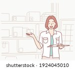 dropshipping business owner...   Shutterstock .eps vector #1924045010