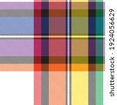 rainbow plaid  checkered ...   Shutterstock .eps vector #1924056629