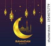 ramadan kareem greeting... | Shutterstock .eps vector #1924071779