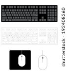 vector keyboard and mouse set