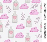 set of big isolated watercolor... | Shutterstock .eps vector #1924083290