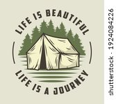 camp tent for camping t shirt... | Shutterstock .eps vector #1924084226