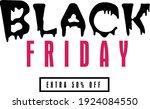 black friday sale banner on... | Shutterstock .eps vector #1924084550