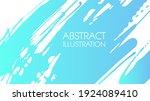 color gradient ink brush stroke ... | Shutterstock .eps vector #1924089410